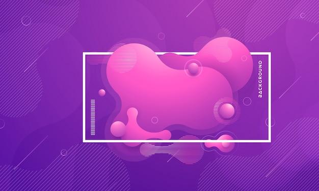 Modne fioletowe płynne elementy gradientowe płynne. Premium Wektorów