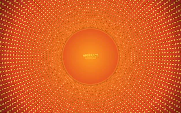 Modne tło z kolorem pomarańczowym Premium Wektorów