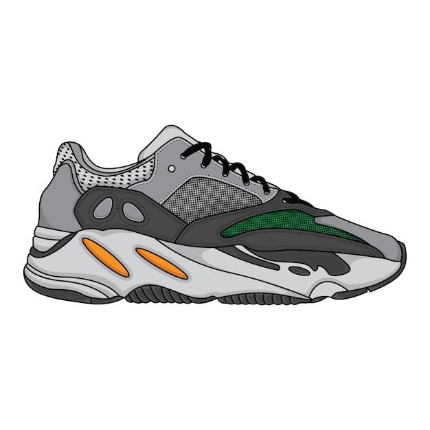 Modne trampki buty sportowe Premium Wektorów