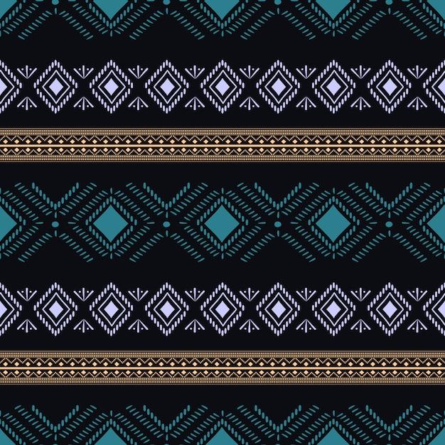 Modny Tribal Aztec Wzór Premium Wektorów