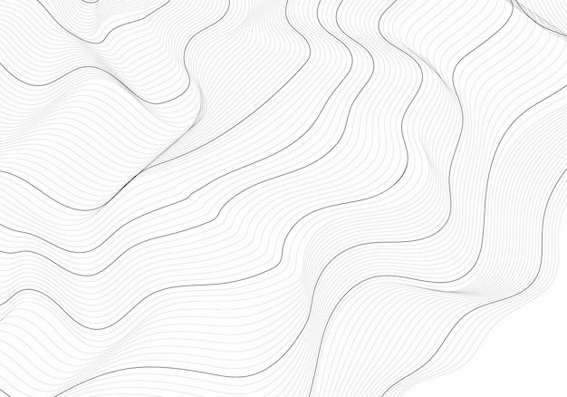 Monochromatyczna Abstrakt Linii Konturowa Ilustracja Darmowych Wektorów