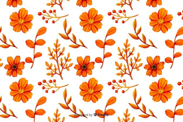 Monochromatyczne kolorowe kwiaty akwarela Darmowych Wektorów