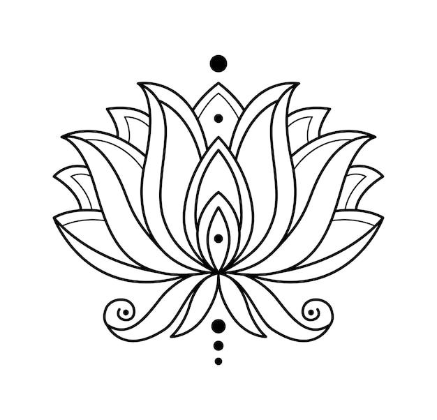 Monochromatyczne Kwitnący Kwiat Na Białym Tle Premium Wektorów