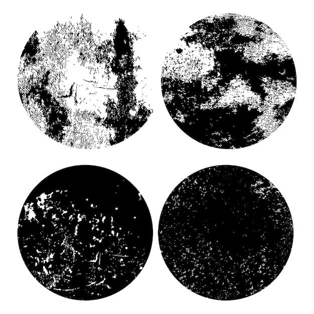 Monochromatyczny grunge zakłopotany tekstura set Darmowych Wektorów