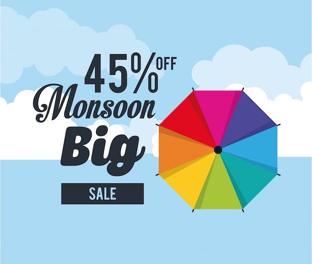 Monsoon duża sprzedaż i rabaty Premium Wektorów