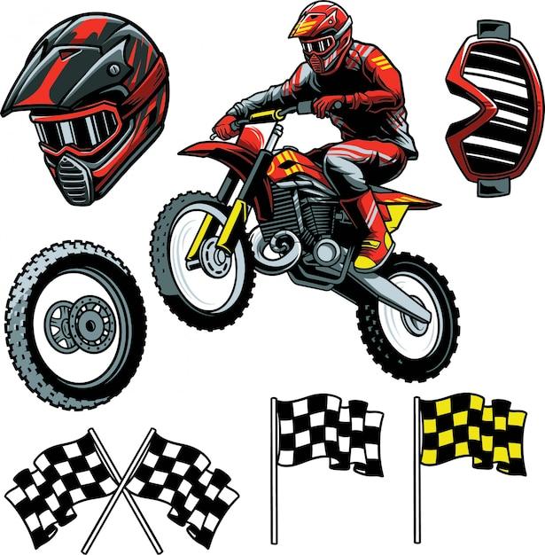 Motocross Enduro Premium Wektorów