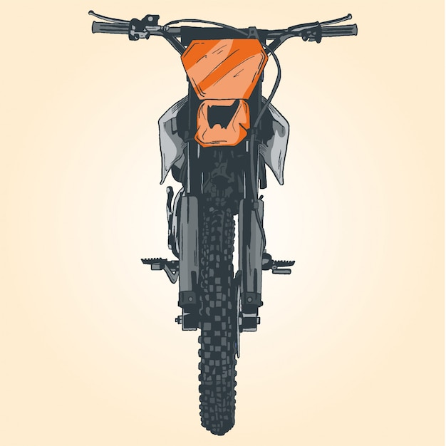 Motocykl Premium Wektorów