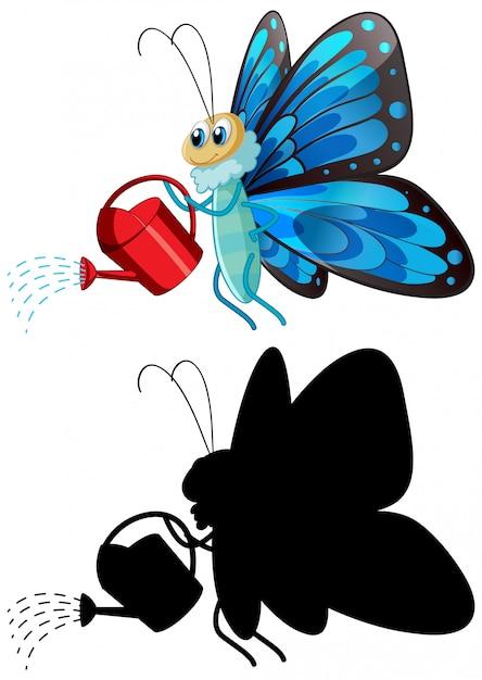 Motyl Gospodarstwa Konewka Darmowych Wektorów