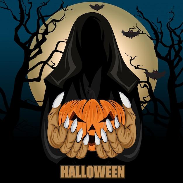 Motyw halloween Premium Wektorów