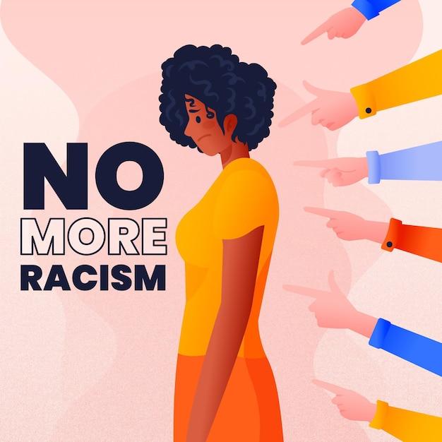 Motyw Ilustrowany Koncepcją Rasizmu Darmowych Wektorów