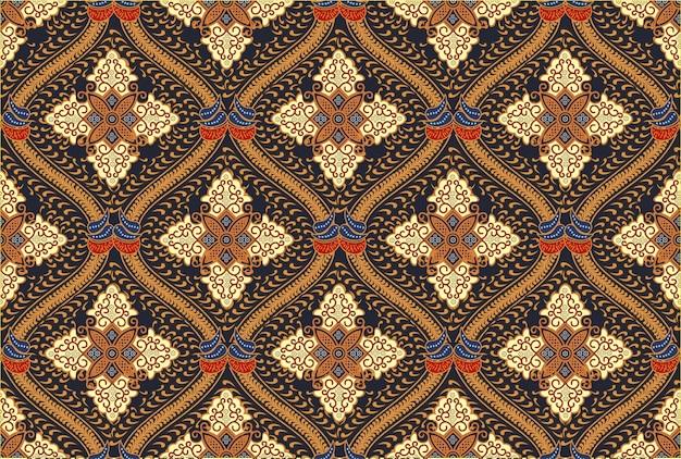 Motyw Indonezyjskiego Batiku W Nowoczesnych Wzorach Kolorystycznych Premium Wektorów