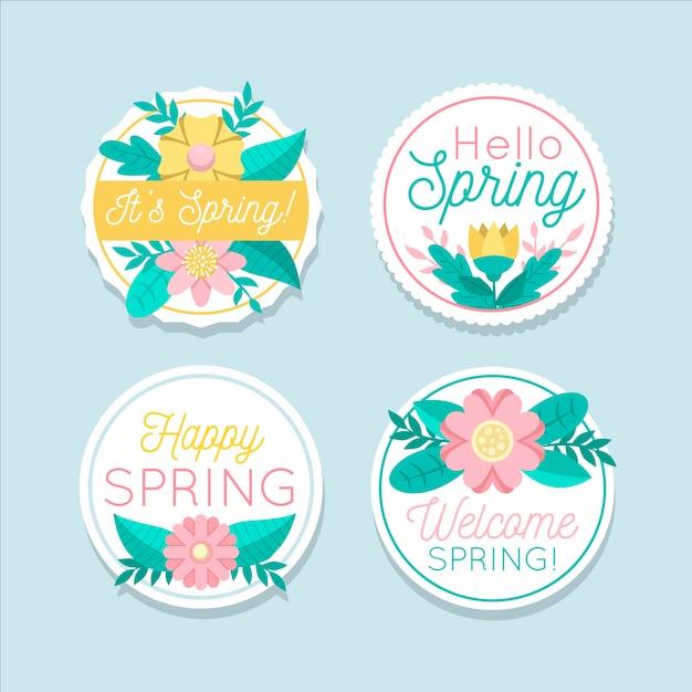 Motyw Kolekcji Wiosennej Płaska Konstrukcja Darmowych Wektorów