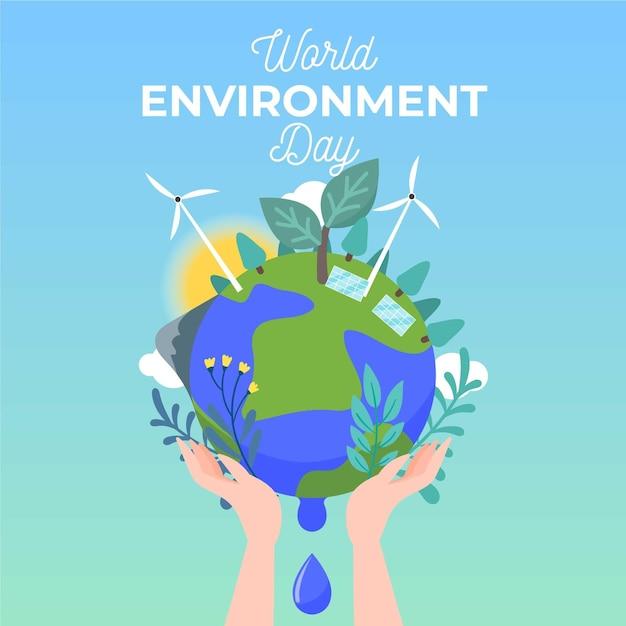 Motyw światowego Dnia środowiska Darmowych Wektorów