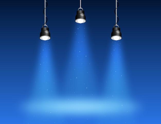 Motyw Tła świateł Punktowych Premium Wektorów