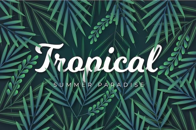 Motyw Tropikalnych Liter Darmowych Wektorów