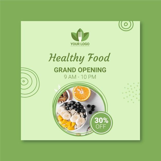 Motyw Ulotki Zdrowej Restauracji Darmowych Wektorów