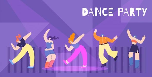 Motywacja Dance Party Tło Darmowych Wektorów