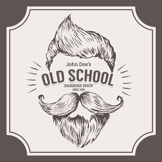 Movember koncepcja z rocznika Darmowych Wektorów