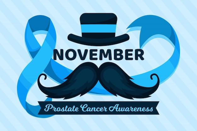 Movember wąsy w płaskiej konstrukcji Darmowych Wektorów