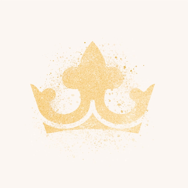 Musująca korona w brokacie Darmowych Wektorów