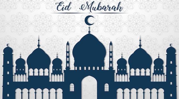 Muzułmański Festiwal Eid Mubarak W Tle Darmowych Wektorów