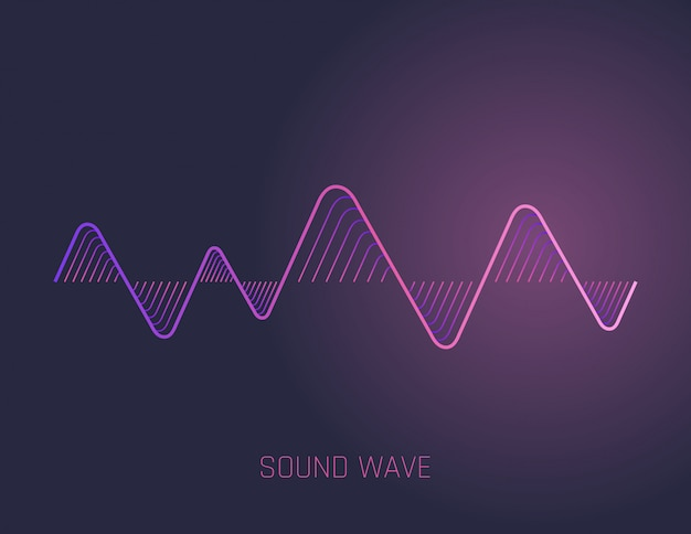 Muzyczne Fale Dźwiękowe Premium Wektorów