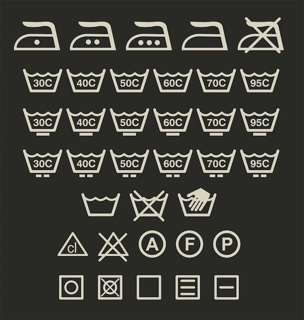 Mycie Znaków Premium Wektorów