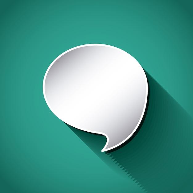 Myśleć o projekcie balonu tekstowego Premium Wektorów