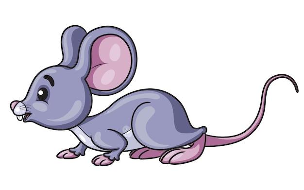 Mysz cute cartoon Premium Wektorów