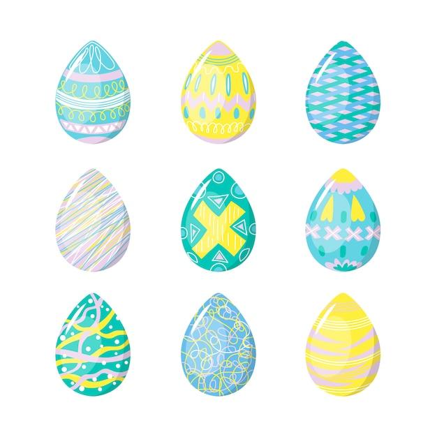 Na Białym Tle Jaja Na Ręcznie Rysowane Białe Tło Darmowych Wektorów