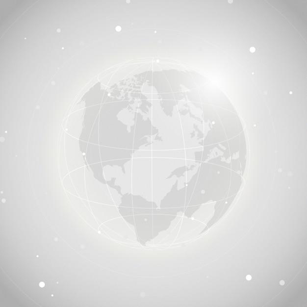Na całym świecie związku popielaty tło ilustraci wektor Darmowych Wektorów