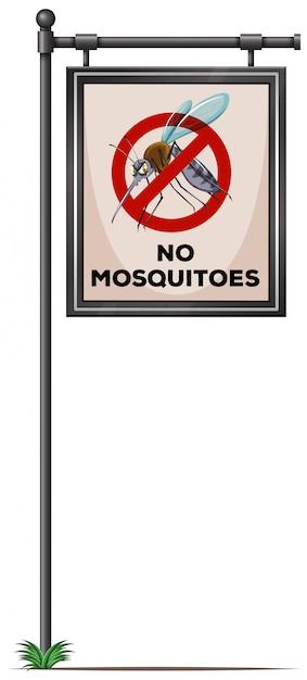 Na Słupie Nie Ma Znaku Komarów Darmowych Wektorów