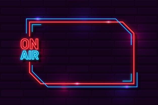 Na Szablonie Ramki Neon Powietrza Darmowych Wektorów