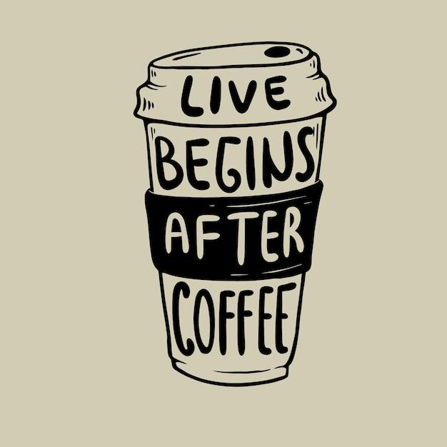Na żywo Zaczyna Się Po Premierze Wektora Kawy Premium Wektorów
