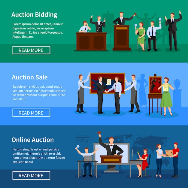 Nadchodzące aukcje aukcji internetowych i informacje o sprzedaży Darmowych Wektorów