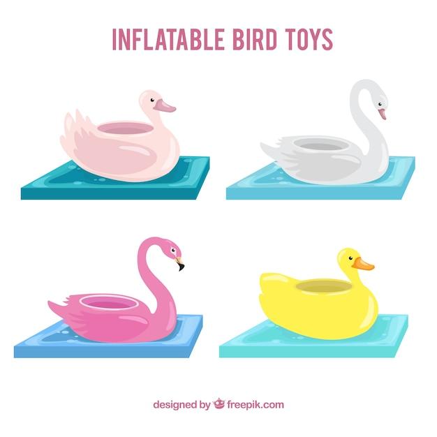 Nadmuchiwane Zabawki Kolekcja Ptaków Darmowych Wektorów