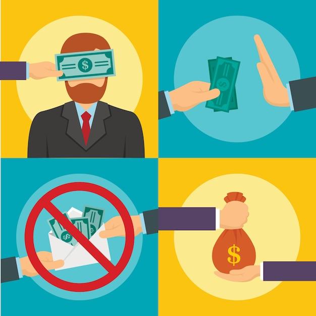 Nadużycie Korupcyjne Premium Wektorów