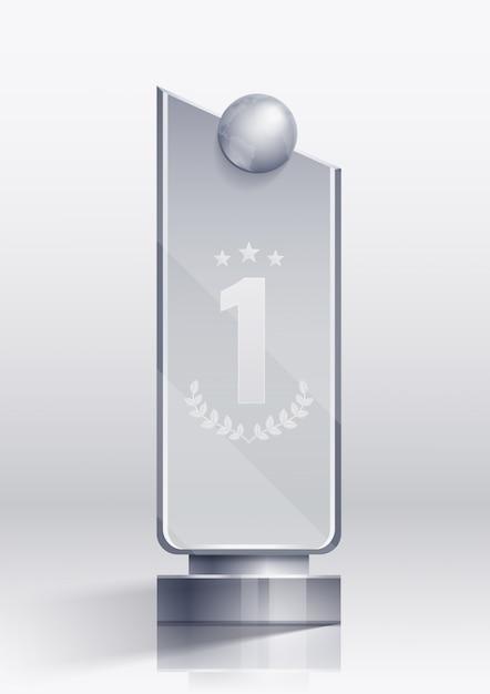Nagradzaj Realistyczną Koncepcję Zwycięzcy I Symbole Cokołu Darmowych Wektorów