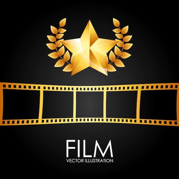 Nagroda Filmowa Premium Wektorów