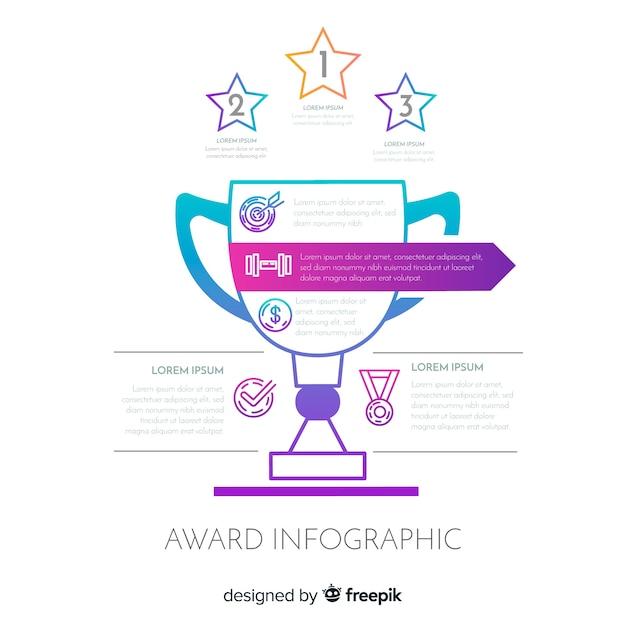 Nagroda infografika Darmowych Wektorów