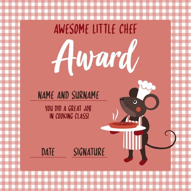 Nagroda Małego Szefa Kuchni Wektor Premium Pobieranie