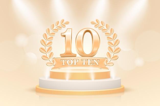 Nagroda Za Najlepsze Podium W Pierwszej Dziesiątce Darmowych Wektorów
