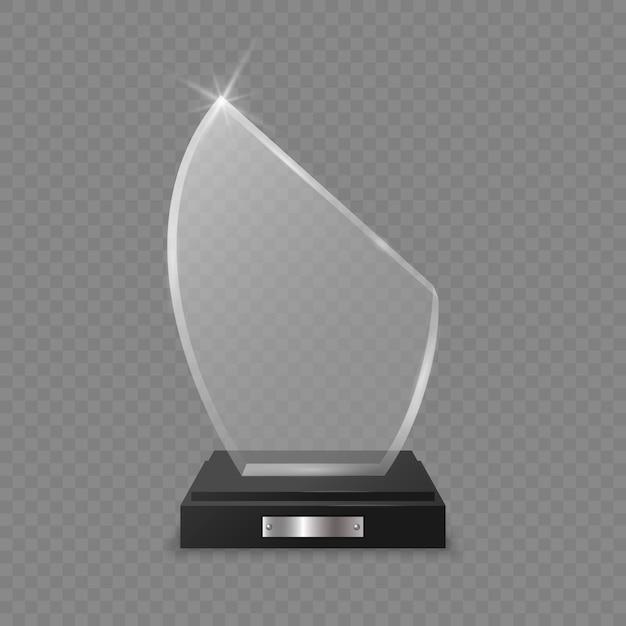Nagroda za szklane trofeum Premium Wektorów