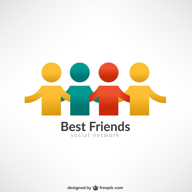 Najlepsi Przyjaciele Logo Darmowych Wektorów