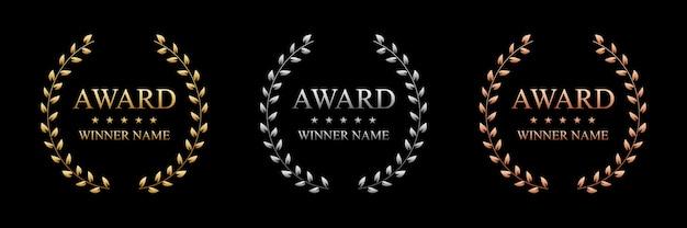 Najlepsza nagroda z złotym wieńcem laurowym. Premium Wektorów