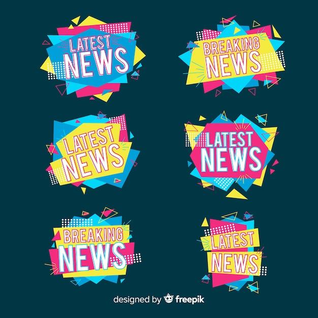 Najnowszy pakiet kolorowych wiadomości origami Darmowych Wektorów