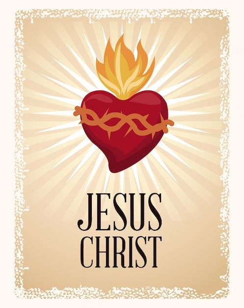 Najświętszego Ducha świętego Serca Premium Wektorów