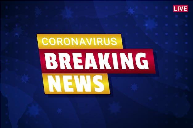 Najświeższe Informacje O Koronawirusie - Tło Darmowych Wektorów