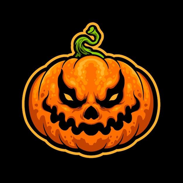 Naklejka Halloween Pumpkin Head Premium Wektorów