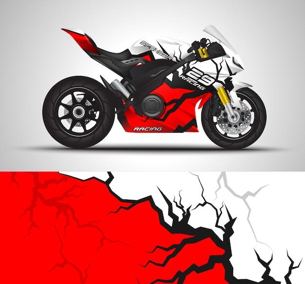 Naklejka Na Motocykl I Naklejka Winylowa Premium Wektorów